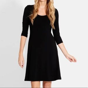 Karen Kane A-Line Flare Black Dress